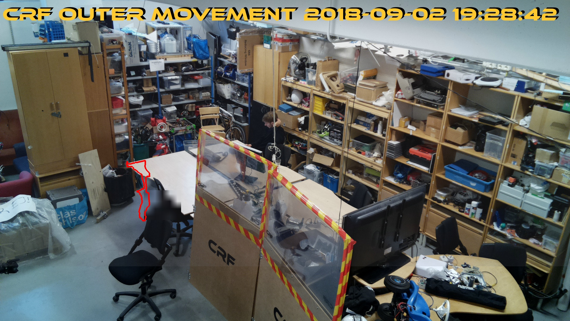 A picture of latest movement of webcam Outer